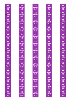 Accelerated Reader Level Spine Labels: Level 6.2 - Avery A4 L7651