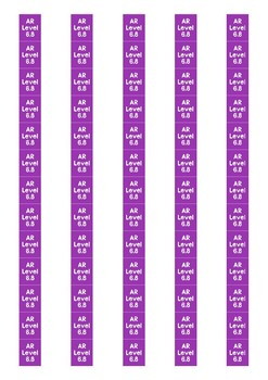 Accelerated Reader Level Spine Labels: Level 6.8 - Avery A4 L7651