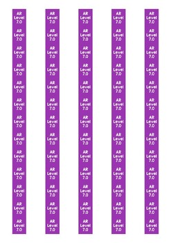 Accelerated Reader Level Spine Labels: Level 7.0 - Avery A4 L7651