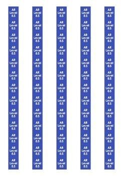 Accelerated Reader Level Spine Labels: Level 8.5 - Avery A4 L7651