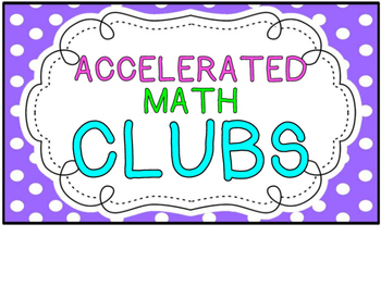 Accelerated Math Clip Chart