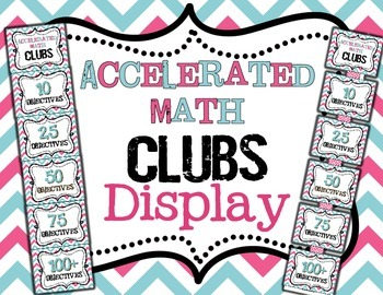 Accelerated Math Clubs Clip Chart Display