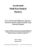 Accelerated Math Fact Student Mastery (FREE)