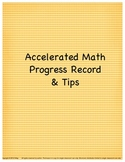 Accelerated Math Progress Record & Tips