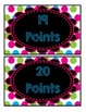 Accelerated Reader Mini Clip-Chart Points Tracker 1-20 - {Neon Chalkboard}
