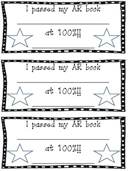 Accelerated Reader 100% Certificate