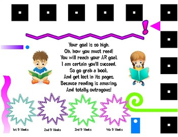 Accelerated Reader 9 Weeks Goal Tracking Card