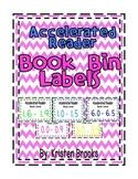 Accelerated Reader (AR) Book Bin Labels