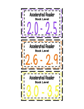 Accelerated Reader (AR) Book Bin Labels