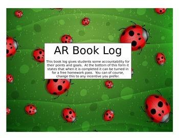 Accelerated Reader (AR) Book Log