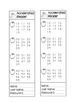 Accelerated Reader-AR Bookmark