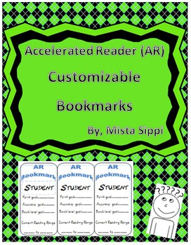 Accelerated Reader (AR) Customizable Bookmarks