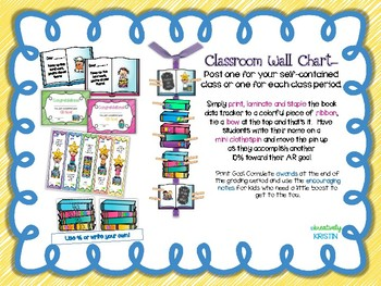 Special Request AR Goals Classroom Wall Chart {3rd-5th Grade Ed.}