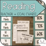 Reader Tracker + Goal Chart (Teal/Turquoise)