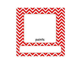 Accelerated Reader (AR) Point AND Goal Tracker Red & Blue Chevron