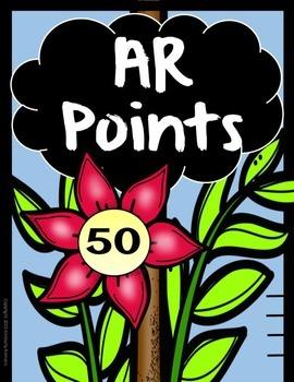 Accelerated Reader (AR) Point Chart-Garden Theme