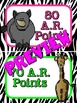 Accelerated Reader (AR) Point Display Safari Clip-Chart