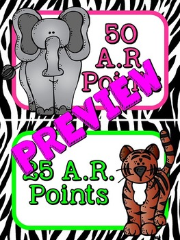 Accelerated Reader (AR) Point Display Safari Clip-Chart (25 increments)