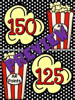 Accelerated Reader (AR) Point Display Popcorn Clip-Chart (25 increments)