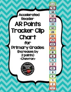 Accelerated Reader (AR) Points Club Clip Chart (every 2 points) - Cute Chevrons