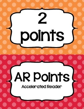Accelerated Reader (AR) Points Club Clip Chart (every 2 points)- Cute Polka Dots
