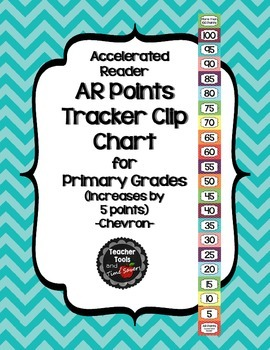 Accelerated Reader (AR) Points Club Clip Chart (every 5 points) - Cute Chevrons
