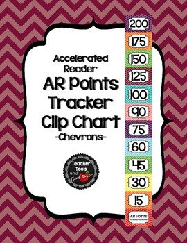 Accelerated Reader (AR) Points Club Clip Chart - Cute Chevrons