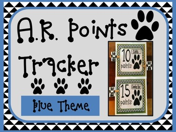Accelerated Reader AR Points Tracker BLUE Theme