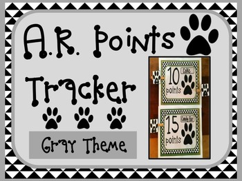 Accelerated Reader AR Points Tracker GRAY Theme