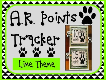Accelerated Reader AR Points Tracker LIME Theme