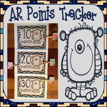 Accelerated Reader AR Points Tracker Monster Theme