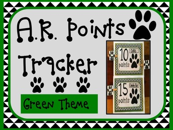 Accelerated Reader AR Points Tracker GREEN Theme