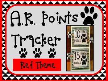 Accelerated Reader AR Points Tracker RED Theme