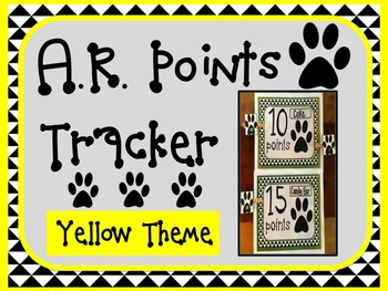 Accelerated Reader AR Points Tracker YELLOW Theme