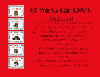 Accelerated Reader (AR) Posters to Display Student Progress - Pirates