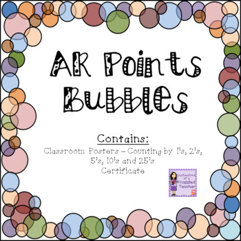 Accelerated Reader (AR) Posters to Display Student Progress - Bubbles