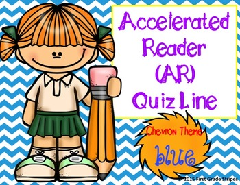 Accelerated Reader (AR) Quiz Line-Chevron Theme-Blue