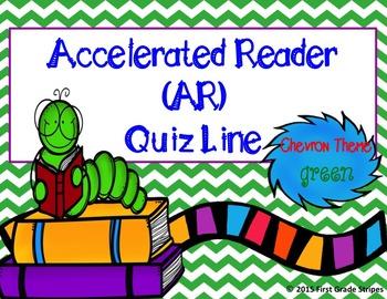 Accelerated Reader (AR) Quiz Line-Chevron Theme-Green