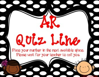 Accelerated Reader (AR) Quiz Line-Polka Dots Theme-Black