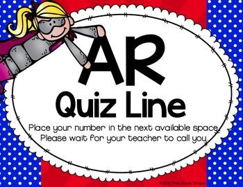 Accelerated Reader (AR) Quiz Line-Superhero Theme