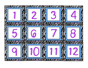 Accelerated Reader (AR) Quiz Line-Zebra Theme-Blue
