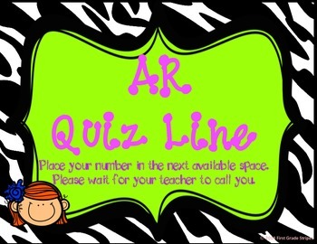 Accelerated Reader (AR) Quiz Line-Zebra Theme-Green
