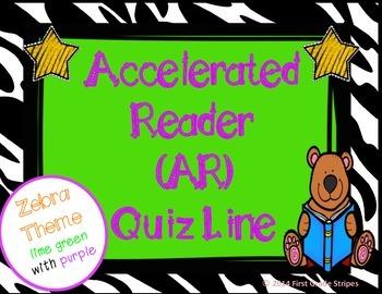 Accelerated Reader (AR) Quiz Line-Zebra Theme-Green