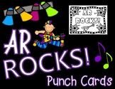 Accelerated Reader 9 Weeks Goal Punch Cards with Rock Star Theme