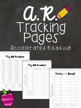 Accelerated Reader (AR) Tracking Data Pages