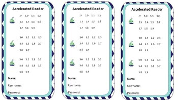 Accelerated Reader AR tags + Ocean Theme, Anchor or Bookmark