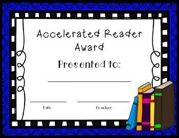 Accelerated Reader Award AR Award for Any Grade