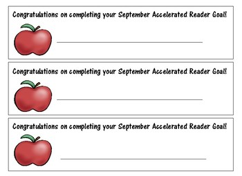 Accelerated Reader Award Certificates Monthly