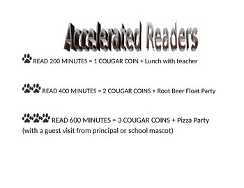 Accelerated Reader Awards Poster