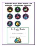 Accelerated Reader Badges, Log, Editable Goal Certificate